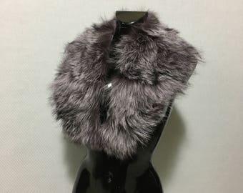 Beautiful lilac-black fox Fur Collar/Scarf