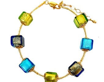 Murano Glass Bracelet 'Venezia', Murano Glass Bracelet, Murano Glass Jewelry, Murano Glass, Venetian Glass Jewellery, Venetian Bracelet