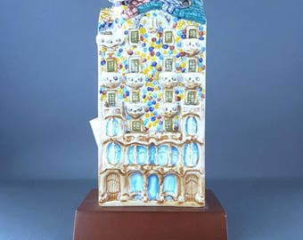 "Ceramic building  ""Casa Batllo in Barcelona, Spain""."