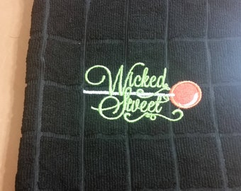 Halloween Embroidered Towel