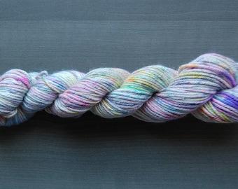 Hand-dyed Silk Cashmere Aran weight yarn - Jubilee Colorway