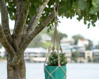 Make a Macrame Hanging Basket in Cotton Rope DIY Kit