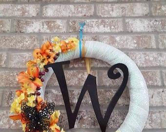Spring/Summer Monogram Wreath
