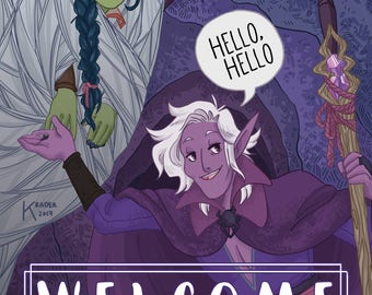 Welcome to My Cave, Magic Brian, Adventure Zone Print [DIGITAL DOWNLOAD]