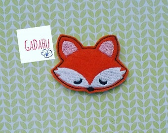 Cute Fox feltie. Embroidery Design 4x4 hoop Instant Download. Felties. Animal feltie