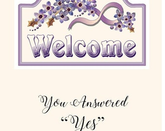 JW Baptism Card, Welcome, gifts