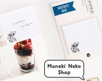 LAST ONE! Koala Sticky Notes - Memo, Stationery, Animal, Japanese, Japan, Cute, Korean, Stripy, Stripes