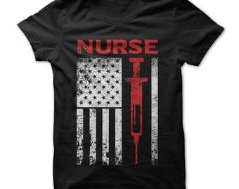 Nurse shirts, nurse shirt, nurse tshirt, nurse t shirt, nurse usa flag shirt, American flag nurse shirt, nurse gift, christmas nurse shirt