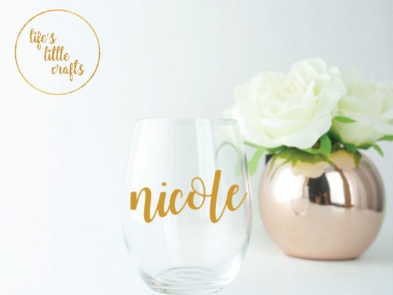 Custom Wine Glass Sticker Custom Vinyl Decal Custom Vinyl - Custom vinyl decals for wine glasses