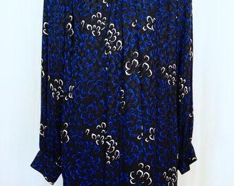 Vintage Silk Floral Dress