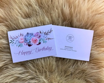 Happy Birthday Flower Banner Card