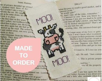Moo! Cow! Bookmark  [Made to order/handmade]