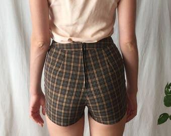 Plaid High Waisted Shorts
