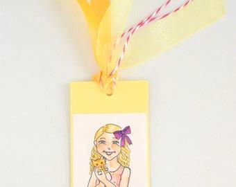 Little Girl with Kitten Bookmark