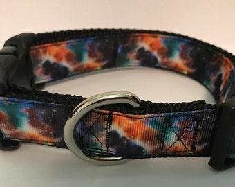 Galaxy-Tie Dye Dog Collar