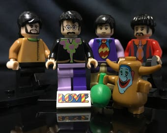 The Beatles | 4x | Custom Minifigure Set