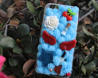 Pastel Aesthetic Blue Decoden Phone Case for iPhone 6/6s