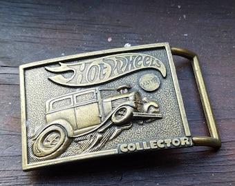 VINTAGE Hot Wheels 1978 Collector Diecast Belt Buckle