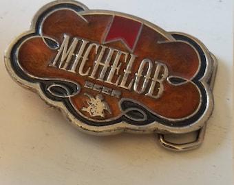 Vintage MICHELOB beer belt buckle