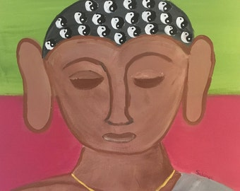 All Buddha Original Folk Art Painting