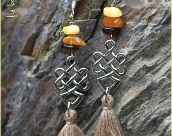 "Earrings ""Amber Tibetan"""