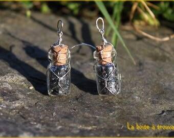 """Dust of Hematite"" earrings"
