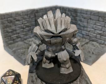 Earth Elemental Tabletop RPG Miniature