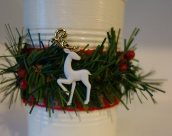 Christmas inspired tin can with reindeer