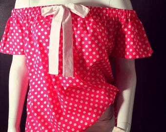 Rosita dot blouse