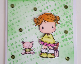 Card girl shopping