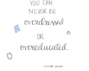 Oscar Wilde Quote Illustration