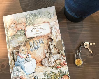 PETER RABBIT by Beatrix Potter Diary Journal with Lock and Keys. Never Been Used