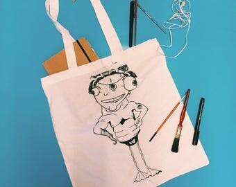 Alien Tote Bag| Screen printed Tote Bag| Bag for life| Shopping Bag|
