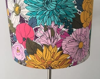 Funky Garden Flowers Bouquet Lampshade 30cm
