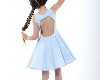 Cutout Open-back Dress for Girls