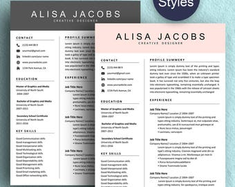 Resume Template Instant Download, Professional Resume Template, Creative Resume Template For Word, Resume with cover letter