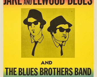 The Blues Brothers movie poster A4 size