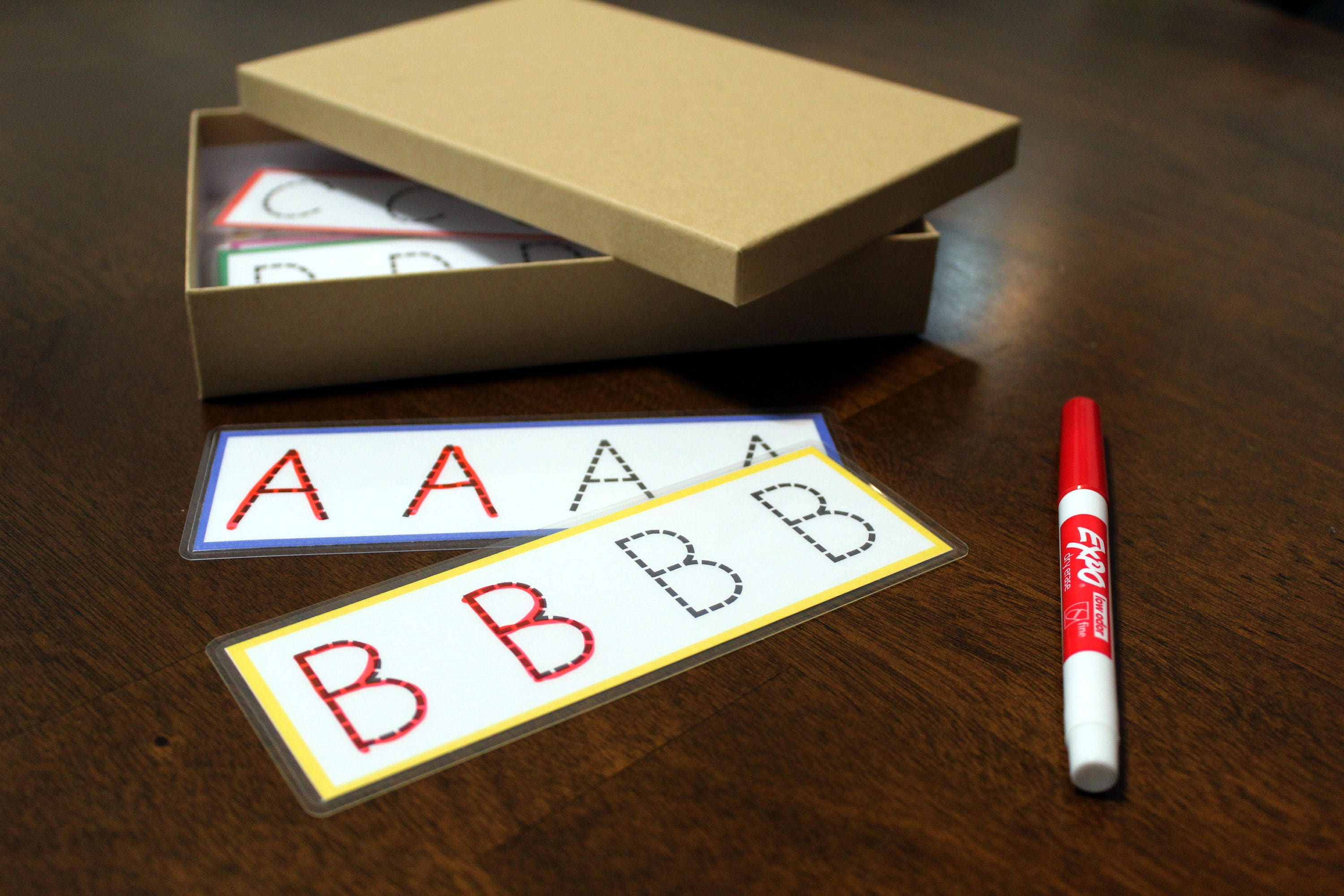 preschool tracing cards letters and numbers customized name