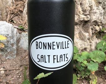 Bonneville Salt Flats Vinyl Sticker