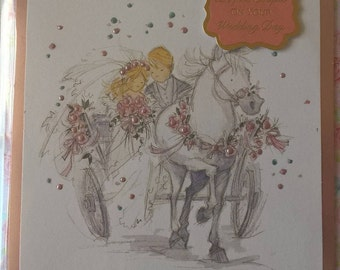 Delightful Couple on your Wedding Day Card