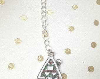 Christmas Snow Covered House Planner Charm/Clip