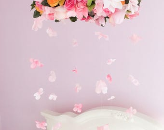 Flower Mobile, Baby Mobile, Nursery Decorations, Baby girl, Mobile, Floral, Flowers, Girl room