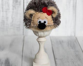 Newborn Crochet Animal Hat Hedgehog Photography Props