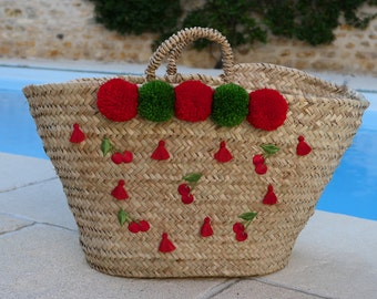 Cherry Red and green basket