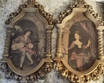 Lady with Fan, and the Troubadour prints