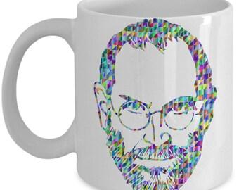 Steve Jobs Coffee Mug - Gift for Apple Friend - Novelty Tea Cup