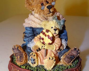 Boyds Bears, Bearstone Collection, Style #228331 Nana Quignapple w/ Taylor...if Mom Says No