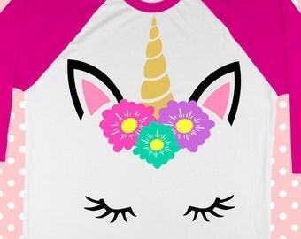 Unicorn SVG - Unicorn shirt svg - Birthday svg - Magic svg - Girl svg - Baby girl svg - Unicorn party svg - Flower svg - svg-dxf-png-pdf-eps