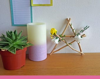 Wiccan/Pagan Flower Pentagram Star - For Altars or Home Decoration