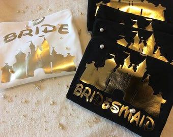 Bride Castle Shirt, Bridesmaid Castle Shirt, Maid Of Honor Castle Shirt, Cute Bridal Party Shirts, Bachelorette Party Shirts